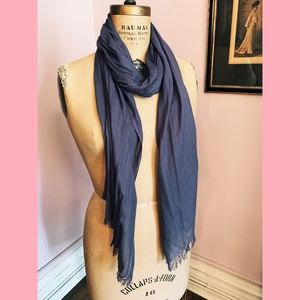 Lilac Woven Silk Fringed Scarf